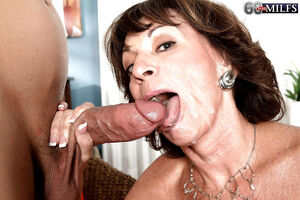 mature takes big cock